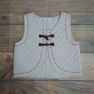 Hanna Anderson quilted toggle vest EUC size 130